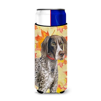 German Shorthaired Pointer Fall Michelob Ultra Hugger for slim cans BB9902MUK