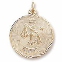 Libra Charm In Yellow Gold
