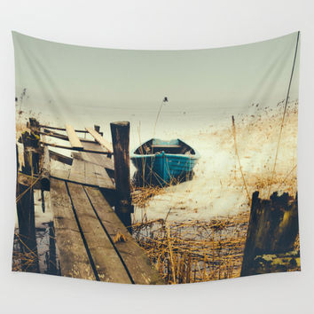Crooked fisherman Wall Tapestry by HappyMelvin