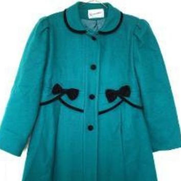 Peter Pan Collar Wool Coat S by toshiiiko on Etsy