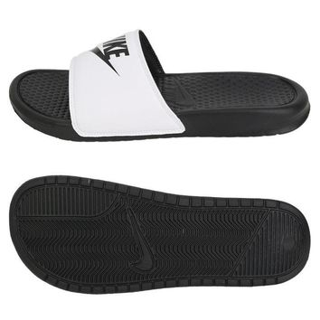 Nike BENASSI JDI Slipper Men's Beach Sandals Black/White 343880-100