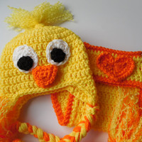 Duck Baby Hat and Diaper Cover - Set