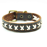 Real Leather Woven Women Leather Cuff Bracelet, Men Leather Bracelet , unisex bracelet C049