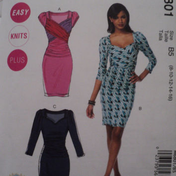 McCalls 6801 Misses Dresses Sewing Pattern Sz 8-16