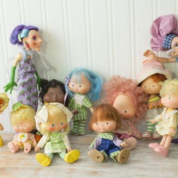 Vintage Strawberry Shortcake Miniature Doll Collection