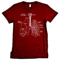 Lungs Anatomy Graphic Tee Shirt