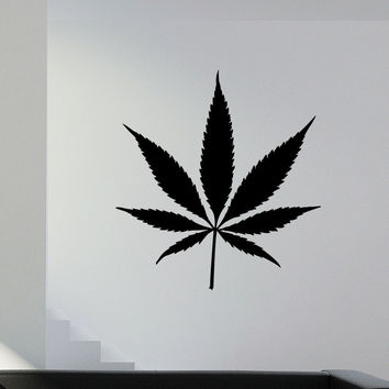 Vinyl Wall Decal Sticker Marijuana Leaf #1553