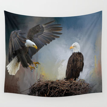 Eagles Nest Wall Tapestry by Theresa Campbell D'August Art