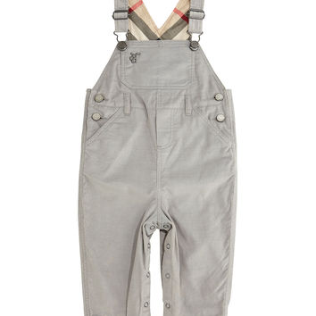 Wilba Corduroy Cotton Overalls, Medium Gray, Size 3M-3Y,