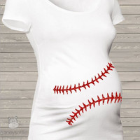 Baseball Mom Maternity Tee