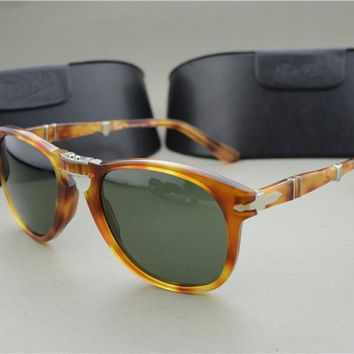 Free shipping high quality famous brand SO SMOOTH WIND  persol 714 sunglasses men and women folding retro sunglasses