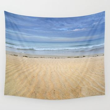 """Wind traces"". Bolonia beach. Wall Tapestry by Guido Montañés"