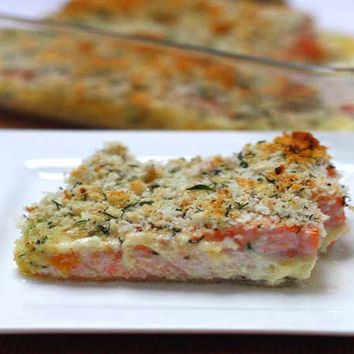 Recipes - Herb Crusted Salmon in a Creamy Sauce