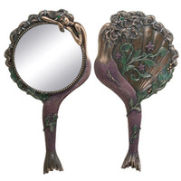 NEW! Mermaid Hand Mirror Art Nouveau Style Powder Room Girls Gift Women Girl