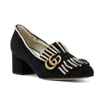 DCCKIN3 Gucci Crystal-embellished Loafers