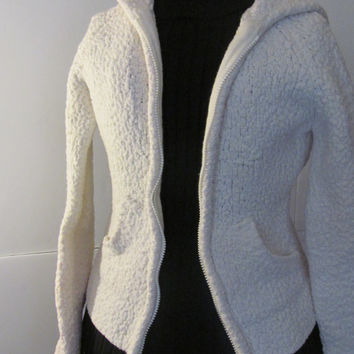 Cardigan Hoodie Sweater Sarsaparilla Womens Small Junior sz S Sweater with Hood Popcorn Sweater