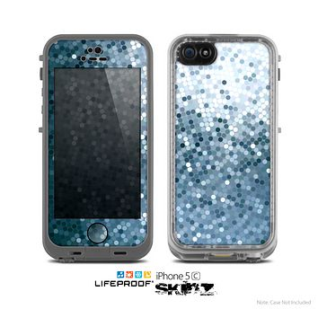 The Circle Pattern Silver Sequence Skin for the Apple iPhone 5c LifeProof Case