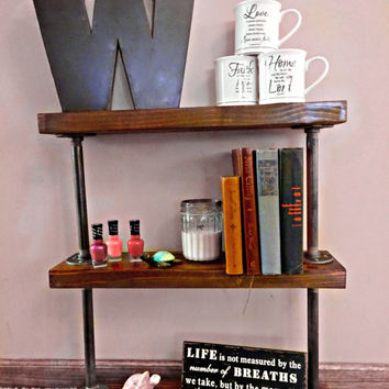 Industrial Pipe Furniture // Shelving Unit //  Office Storage // Bathroom Storage // Bookshelf // Kitchen Storage