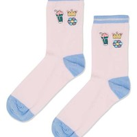 Embroidery Badge Ankle Socks - New In This Week - New In
