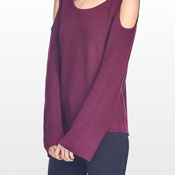 Long Sleeve Cut Out Shoulder Sweater