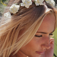 Eterie Flower Crown In White