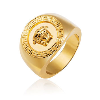 Versace Style Men's Ring