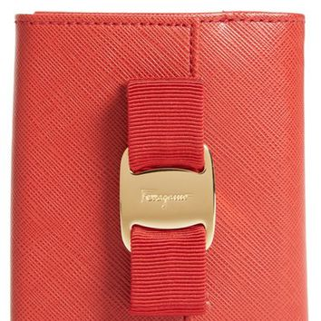 Salvatore Ferragamo Vara Bow Calfskin Leather French Wallet | Nordstrom