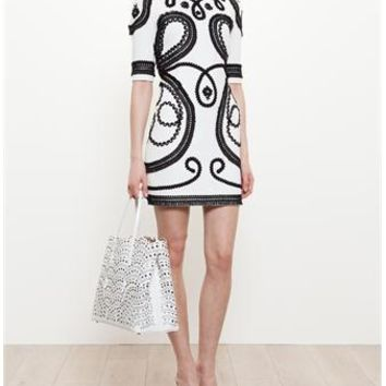 DOLCE & GABBANA | Corded-Embroidery Mini Dress | Browns fashion & designer clothes & clothing