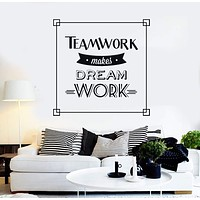 Vinyl Wall Decal Teamwork Quote Motivation Office Stickers Mural Unique Gift (ig4357)