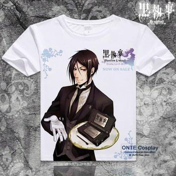 Anime Black Butler Sebastian Michaelis Video Game Served T-shirt
