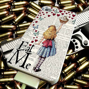 Alice in Wonderland Madhatter Chershire Cat for iPhone 4/4s/5/5s/5c/6/6 Plus Case, Samsung Galaxy S3/S4/S5/Note 3/4 Case, iPod 4/5 Case, HtC One M7 M8 and Nexus Case ***