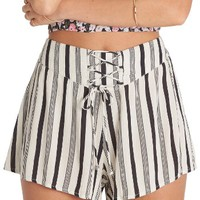 Billabong Sunny Eyes Lace-Up Woven Shorts | Nordstrom