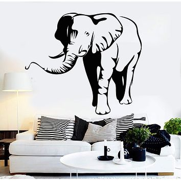 Vinyl Wall Decal Elephant African Animal Zoo Children's Room Stickers Unique Gift (092ig)