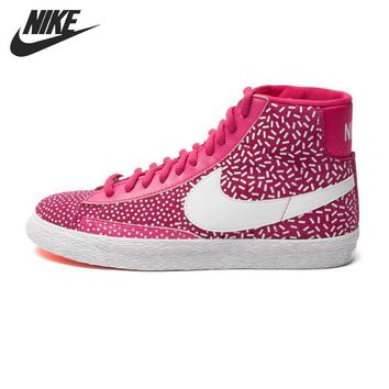 PEAPON Original NIKE WMNS BLAZER MID PRINT Women's Skateboarding Shoes High-top Sneakers