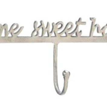 Cast Iron Home Sweet Home Wall Hook