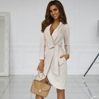 Strappy Suede Long Sleeve Cardigan Jacket Coat