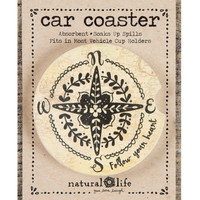 Natural Life Car Coaster Follow Your Heart