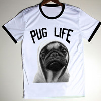 Pug Life Printed Tshirt Red & Step Brothers Boats & Hoes