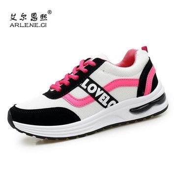 2018 Newest Air Cushion Tennis Shoes for Women Breathable Professional Sneakers Female Lace Up Sports Shoes Woman Walking Shoes