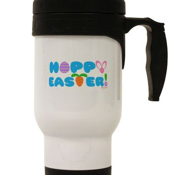 Cute Decorative Hoppy Easter Design Stainless Steel 14oz Travel Mug by TooLoud