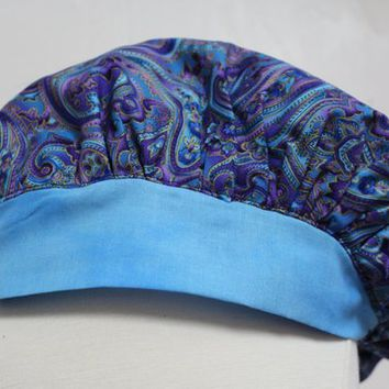 Surgical Tech scrub cap, scrub cap, scrub hat, scrub caps, nurse, nurse gift, graduation, gift for her, gift for nurse, Christmas gift, blue