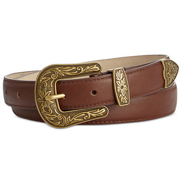 INC International Concepts Three-Piece Western Pant Belt, Only at Macy's - Handbags & Accessories - Macy's
