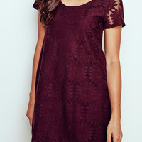 FLORAL LACE SHIFT DRESS - PROMO 50% OFF
