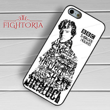Sherlock Holmes Typography -srwe for iPhone 6S case, iPhone 5s case, iPhone 6 case, iPhone 4S, Samsung S6 Edge