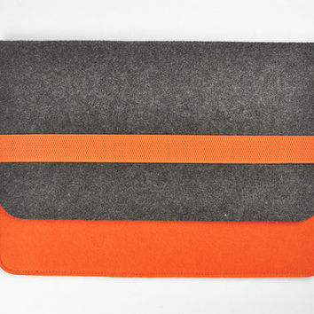 Dell tablet case ,7 inch tablet case,   8 inch tablet case, 10 inch tablet case, Felt tablet sleeve, Felt tablet bag. Orange bags,Gray bags