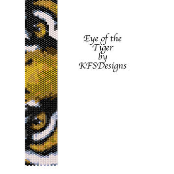 Eye Of The Tiger - Peyote Stitch Beading Pattern (Buy 2 Patterns get a 3rd. Pattern FREE)