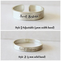 Custom Rings / Stacking Rings /Personalized Ring / Best Friend Gift / Sister Gift  / Her Birthday Gift/  Gift for Her / Gift for Mom / Gift