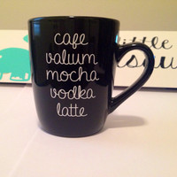 Cafe Valium Mocha. coffee mug