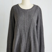 Mid-length Long Sleeve Outstanding Originality Sweater by ModCloth