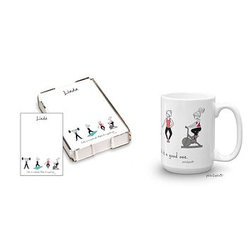 Life's a workout gift set